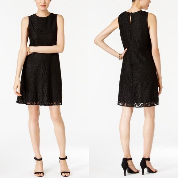Nine West Dresses & Skirts - NEW Nine West Black Lace Trapeze Shift Dress LBD